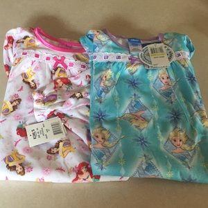 Disney Elsa and Princess nightgowns